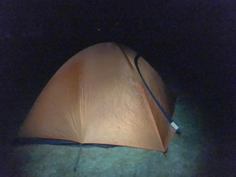 足早にテントを設営